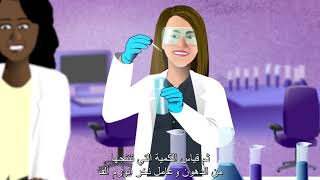 Photo of Fatima Al-Rashid works on a drug to fight fat from clogging tissues